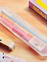 Plástica Mini Caixa de lápis Transparente