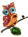 Personality Color Drip Owl Brooch