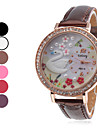 Mulheres Relógio Casual Quartzo Banda Preta Branco Vermelho Marrom Roxa Rose