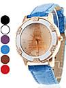 Mulheres Relógio de Moda Quartz Banda Torre Eiffel Preta / Branco / Azul / Vermelho / Marrom / Roxa