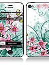 Elegante Frente Pattern Flower and Body Full Back Etiquetas para iPhone 5