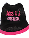 Cane T-shirt Abbigliamento per cani Con cuori Lettere & Numeri Cotone Costume Per animali domestici