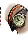 Женские Часы-браслет Японский Кварцевый Натуральная кожа Группа Богемные Черный Коричневый РазноцветныйЧерный Коричневый Красный