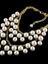 collier multicouche perle en alliage de tael (couleur aorted)