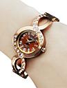 Bracelet style analogique bracelet au quartz des femmes (Bronze)