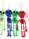 Скелет Череп брелок (случайный цвет)