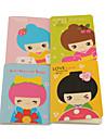 Coreano boneca Padrão Notebook (cores aleatórias)