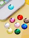 Joyland acrylic button sticker (couleurs aleatoires) diy pour iphone 8 7 samsung galaxy s8 s7