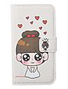 Cartoon caisse de cuir de modèle Cute Girl dur pour l'iPhone 4/4S