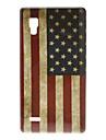 LG 옵티머스 L9 P760를위한 Retro 미국 깃발 본 단단한 상자