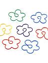 Flor del ciruelo del metal de la forma Clips de papel (10PCS color al azar)