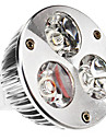 GU5.3(MR16) W 3 High Power LED 240 LM Warm White MR16 Spot Lights DC 12 V