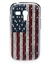 cas dur de modèle de drapeau avec strass pour Samsung Galaxy S3 mini-I8190