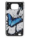 cas dur de modèle de papillon avec strass pour Samsung Galaxy S2 I9100