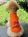 J'aime mon papa modèle de gilet de coton pour chiens (S-XXL)