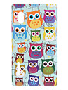 Adorable Cartoon Owls in Line Pattern Hard Case for LG E610 Optimus L5