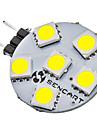 1w g4 led bi-pin lights 6 smd 5050 80-120lm branco natural 6500k dc 12v