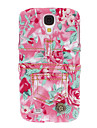 Pretty Flower Denim Style Protective Hard Case for Samsung Galaxy S4 I9500
