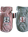Sailing Stripes Pattern Vest Hoodie for Dogs (Assorted Colors, XS-XL)
