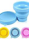 캔디 컬러 실리콘 170ml 접이식 컵 (색상 랜덤)