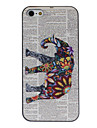 Flower Decorated Elephant Coloured Drawing Pattern Black Frame PC Hard Case for iPhone 5/5S