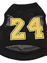 Собака Футболка Джерси Одежда для собак Косплей Буквы и цифры Черный Костюм Для домашних животных