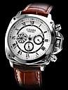 Calendário estilo pu analógico relógio de pulso Luxury Auto-mecânico dos homens (cores sortidas)