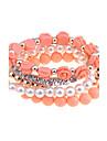 ensemble lureme®alloy perle zircon bracelet de perles (couleurs assorties)
