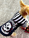 애완 동물 개를위한 후드 의상 차가운 두개골 패턴 데님 외투 (분류 된 색깔, 크기)