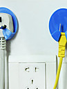 Power Plug Разъем Функция Вешалка Крюк 2Pc (случайный цвет)