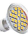 GU10 5W는 360LM 2700K 온난 한 공정한 판단 LED 반점 전구 (220-240V)를 24x5050SMD