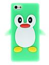 3d verde pinguim silicone macio para iphone 5/5s