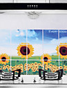 75x45cm Sunflower Pattern Oil-Proof Water-Proof Hot-Proof Kitchen Wall Sticker