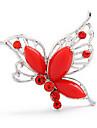 나비 모양 브로치 (무작위 색깔)