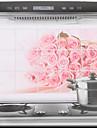 75x45cm Розовые розы маслостойкой Водонепроницаемый Стикер стены кухни