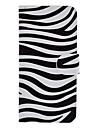 Pour Coque iPhone 5 Porte Carte Avec Support Clapet Motif Coque Coque Intégrale Coque Lignes / Vagues Dur Cuir PU pour iPhone SE/5s/5