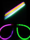 עשה זאת בעצמך ליל כל הקדושים עגולים משקפיים זוהרים בחושך עם מקלות 10pcs (צבע אקראי)