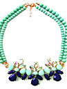 Necklace Choker Necklaces / Vintage Necklaces Jewelry Wedding / Party Fashion Alloy Blue 1pc Gift