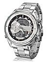 Men's Fashion Watch Alarm / Calendar / date / day / Water Resistant / Water Proof Stainless Steel Band Silver