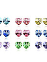 Crystal Heart Stud Earrings(Assorted Color)