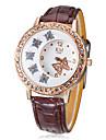 Diamante Женские модели Бабочки набора PU Группа Кварцевые аналоговые наручные часы (разных цветов)