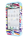 Hybrid Designed Colorful Leopard Print Hard Case with Interior Silicone Back Cover for iPhone 4/4S (Optional Colors)