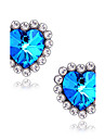 Women\'s Synthetic Sapphire Stud Earrings - Imitation Diamond Heart, Star, Love Luxury Blue For Daily