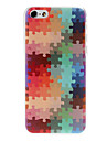 Colorful Puzzle Pattern PC Hard Back Cover for iPhone 5C