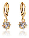 Women's Drop Earrings Rhinestone Gold Plated Jewelry Party Daily