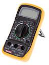 Excel XL830L Digital 3 1/2 LCD Voltmeter Ammeter Ohmmeter Multimeter Black Yellow