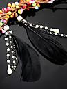 Boucle Boucles d'oreille goutte Bijoux Femme Soirée / Quotidien Plume Noir KAYSHINE