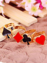 Design New Korean Fashion Personality Funny Modern Poker Suit Adjustable Ring R722-R725