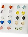 amour strass Boucles d'oreilles coeur (couleur aléatoire)
