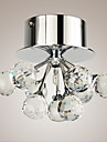 Flush Mount ,  Modern/Contemporary Chrome Feature for Crystal Mini Style Metal Living Room Bedroom Dining Room